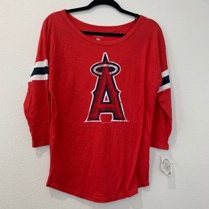 Women's Angels baseball t-shirt with graphic A